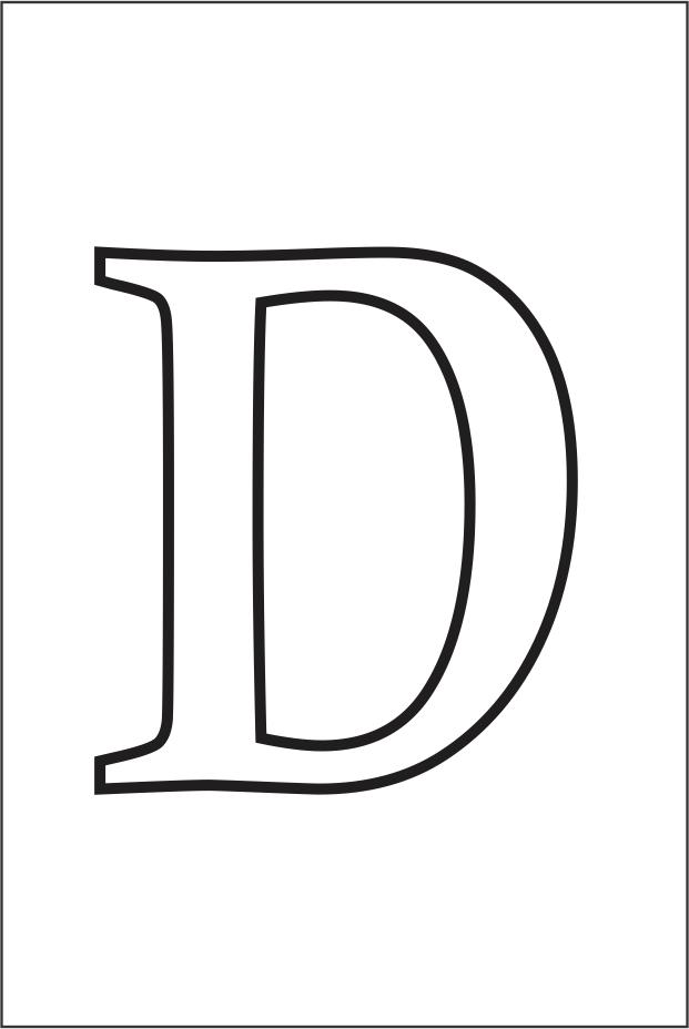 Molde da letra D