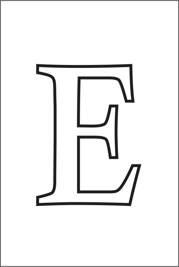 Molde da letra E