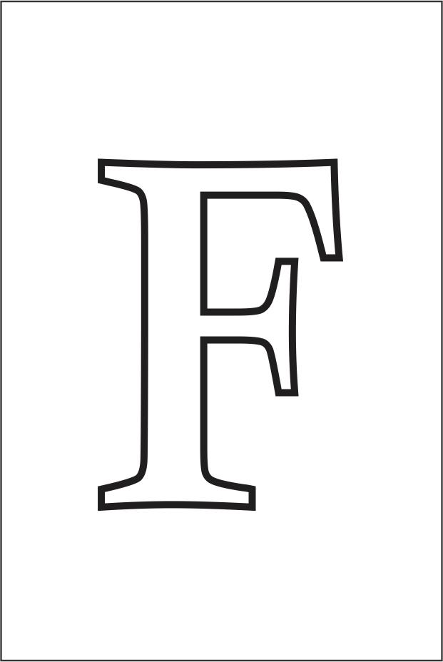 Molde da letra F