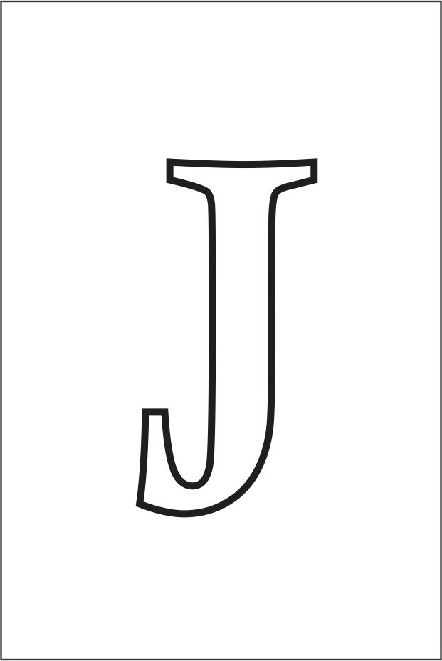 Molde da letra J