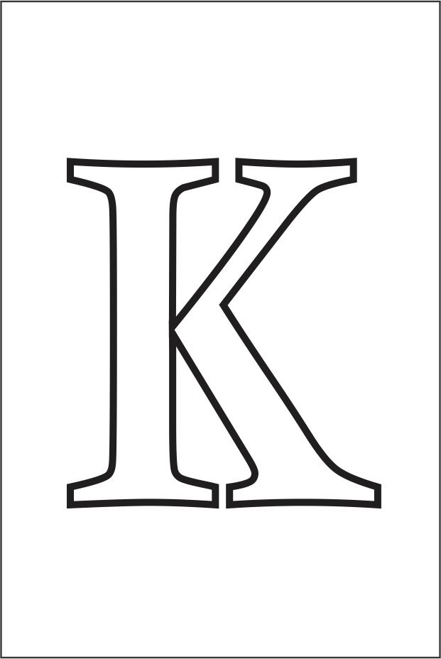 Molde da letra K
