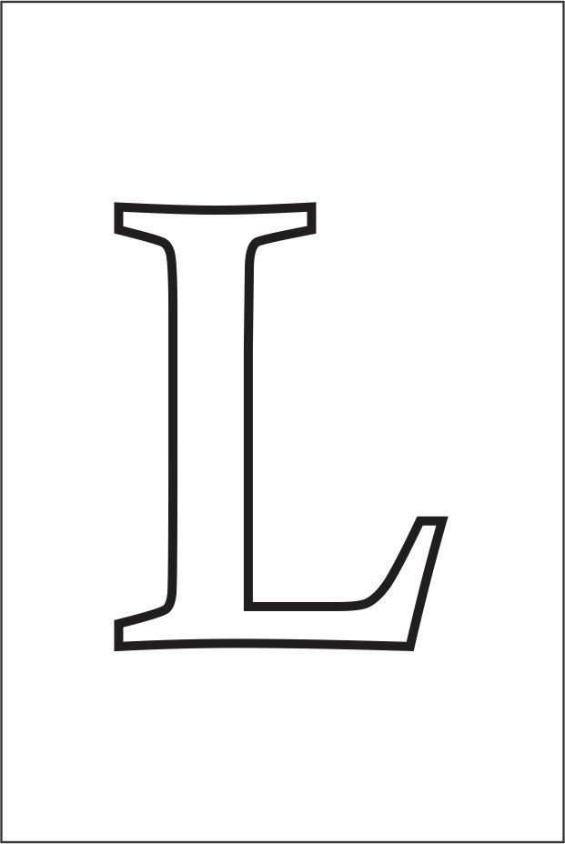 Molde da letra L