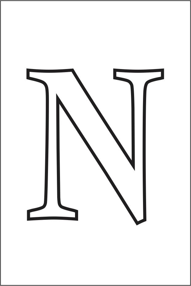 Molde da letra N