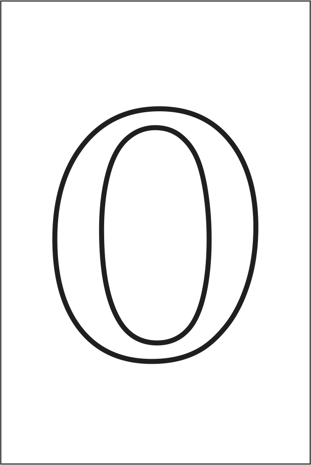 Molde da letra O