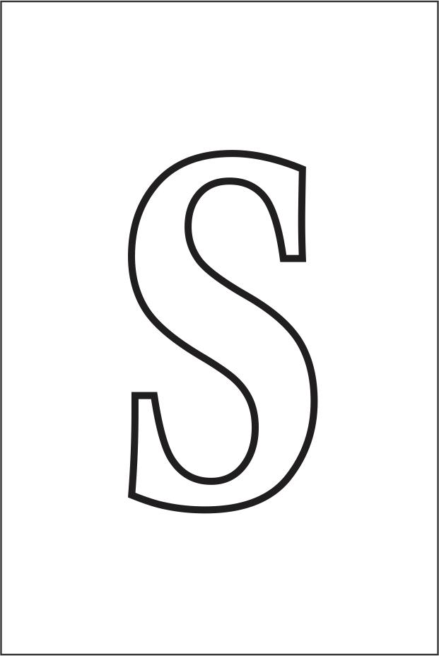 Molde da letra S