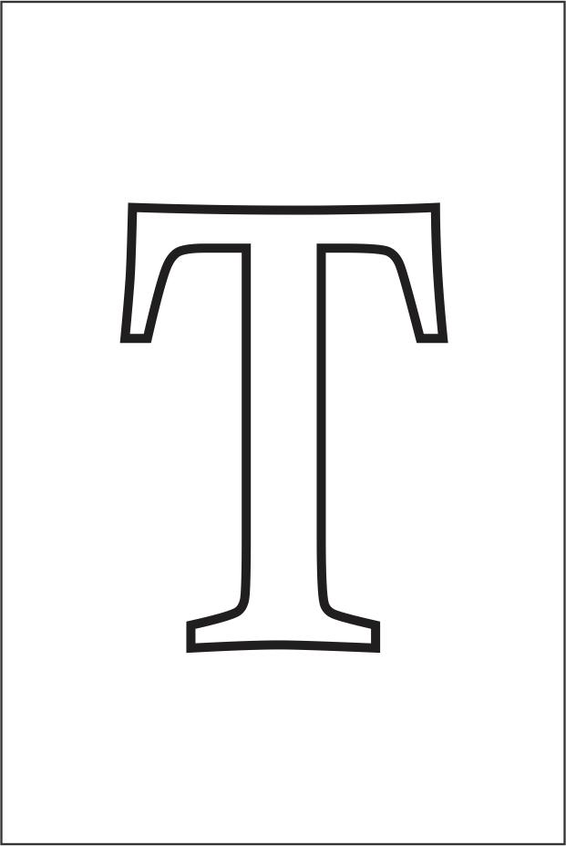 Molde da letra T