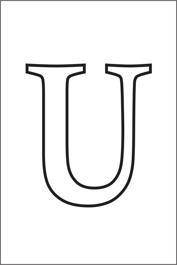 Molde da letra U