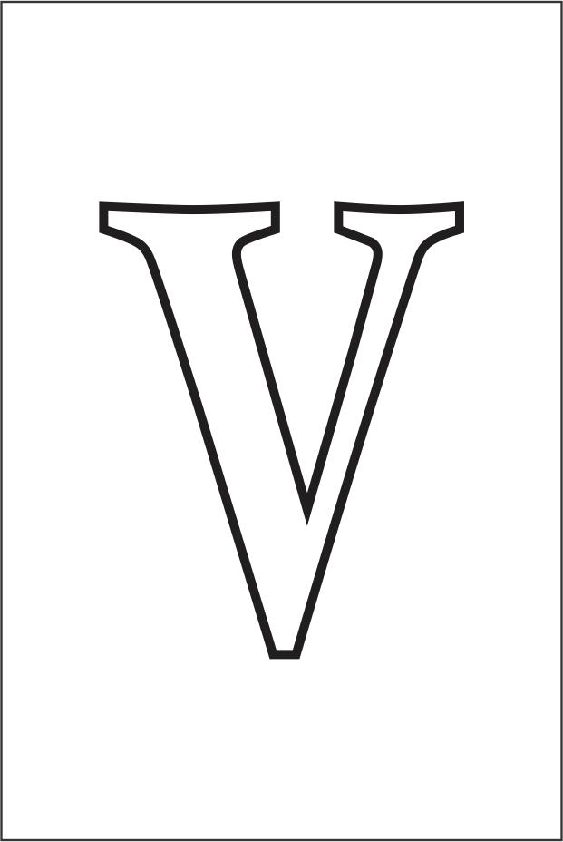 Molde da letra V
