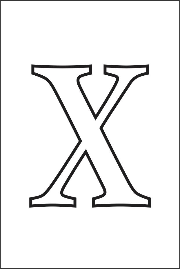 Molde da letra X