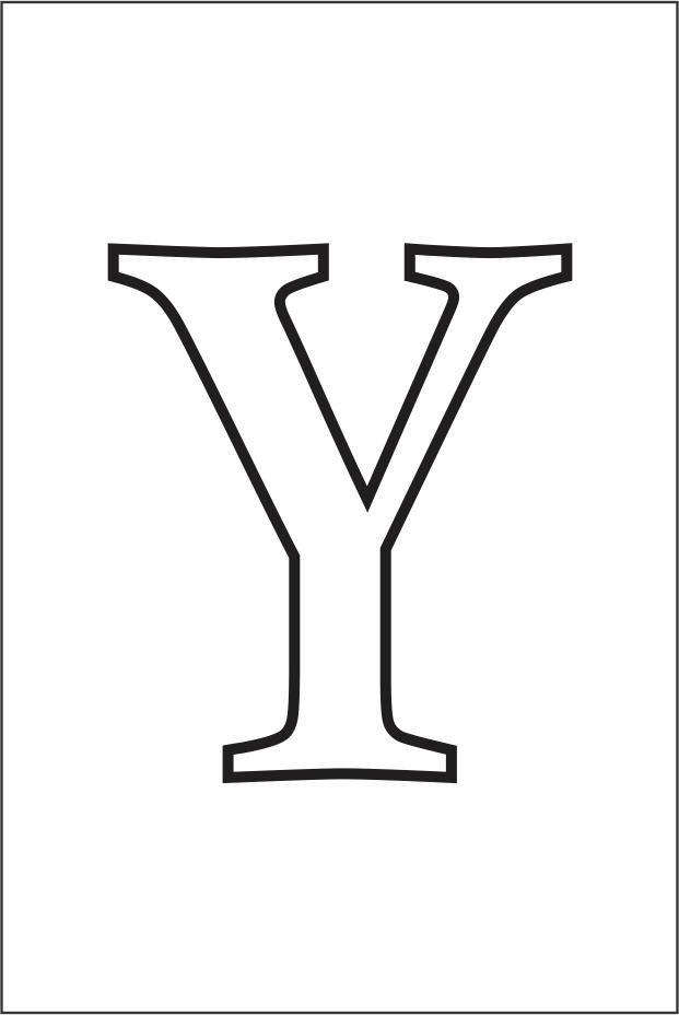 Molde da letra Y