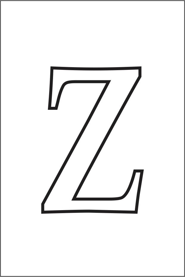 Molde da letra Z