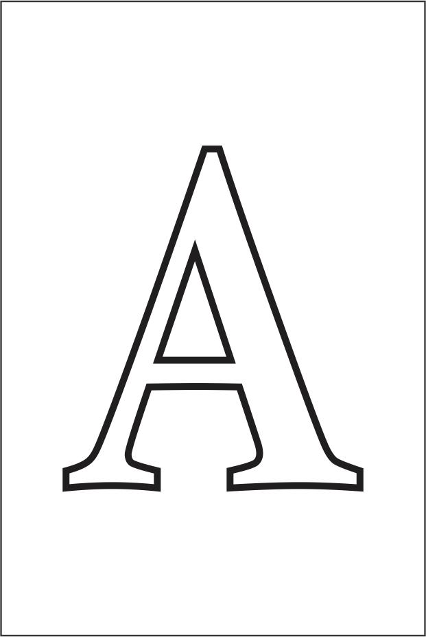 Molde da letra a