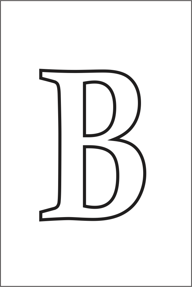 Molde da letra b