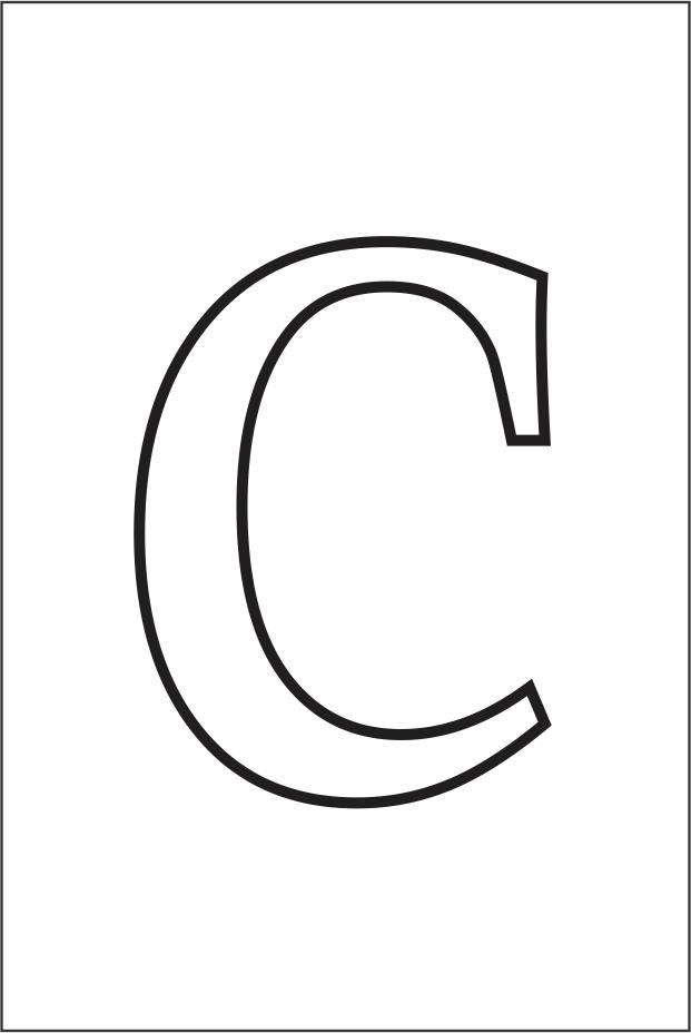 Molde da letra c